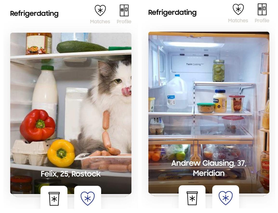 Samsung запустила приложение знакомств посодержимому холодильника