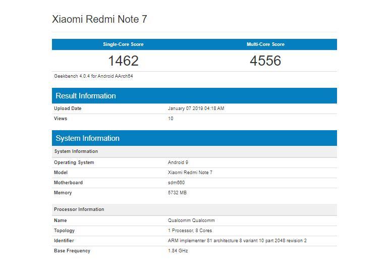 Потенциальный хитXiaomi уже вбенчмарке — Redmi Note 7