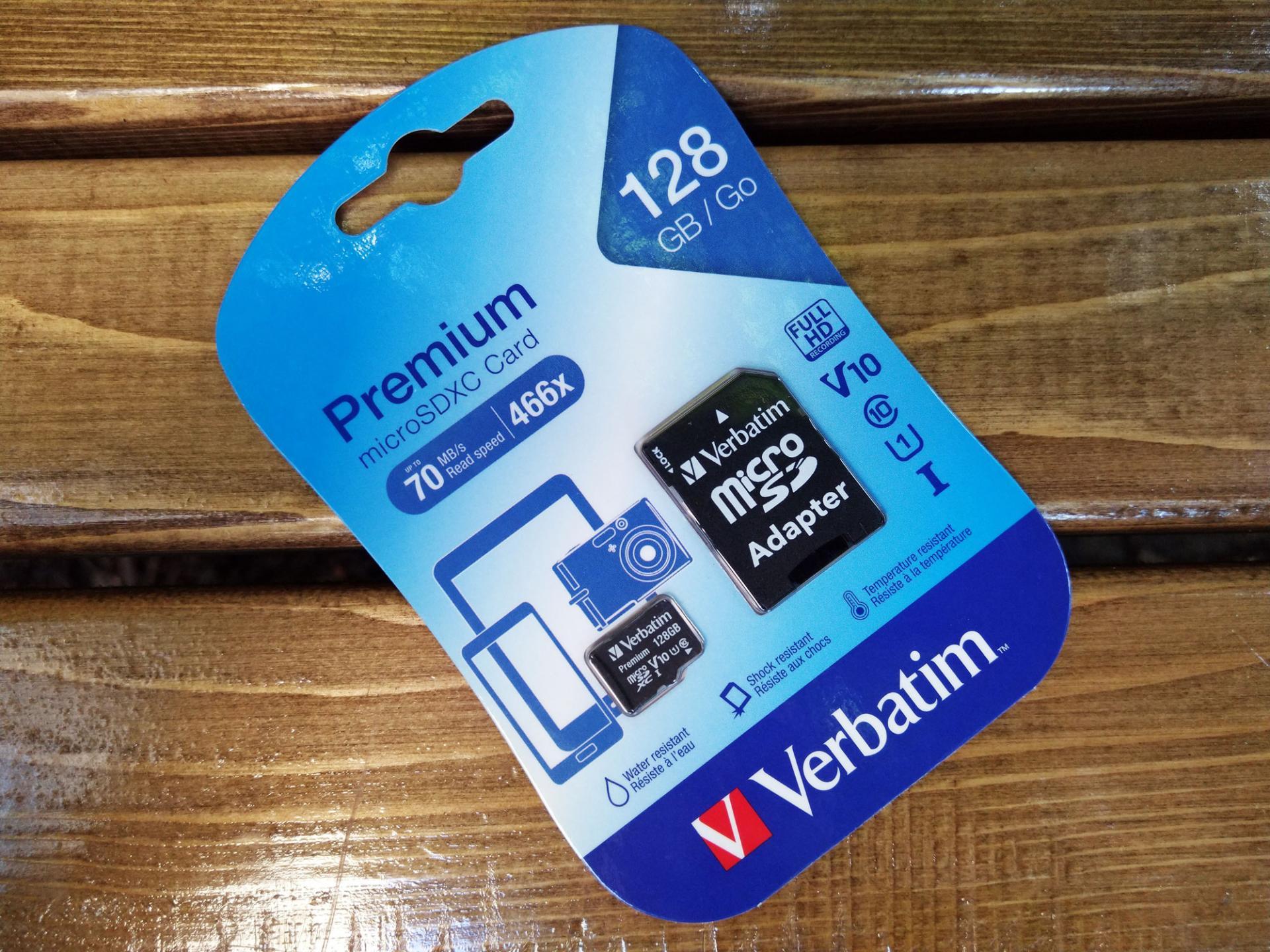 Обзор карты памяти MicroSDXC Verbatim 128 GbPremium