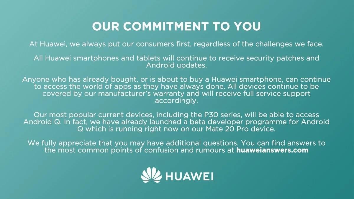 Huawei обещает Android Qдля своих смартфонов. Список