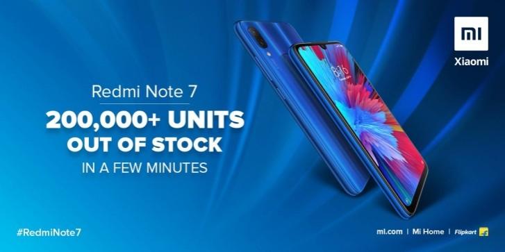 200 тысяч Redmi Note 7 занесколько минут. Xiaomi как обычно