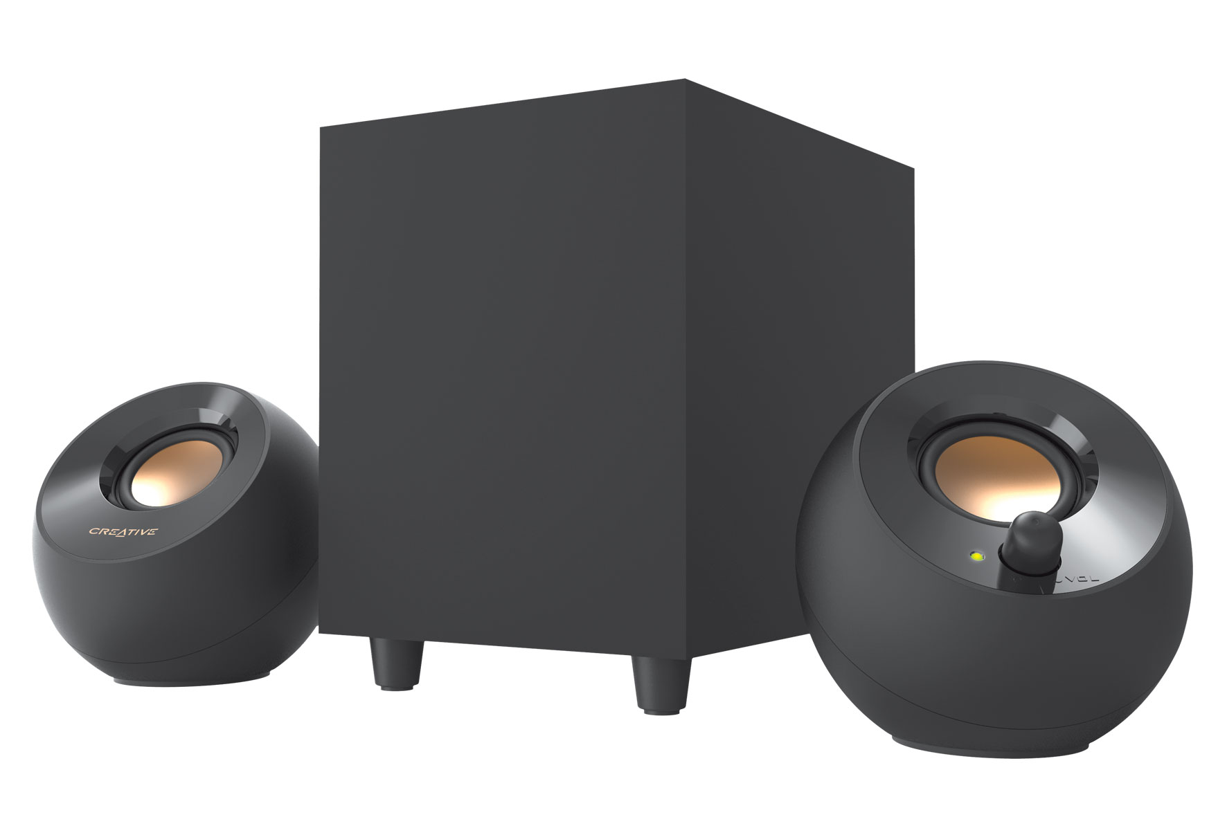 Creative анонсировала новую акустику Pebble Plus ссабвуфером
