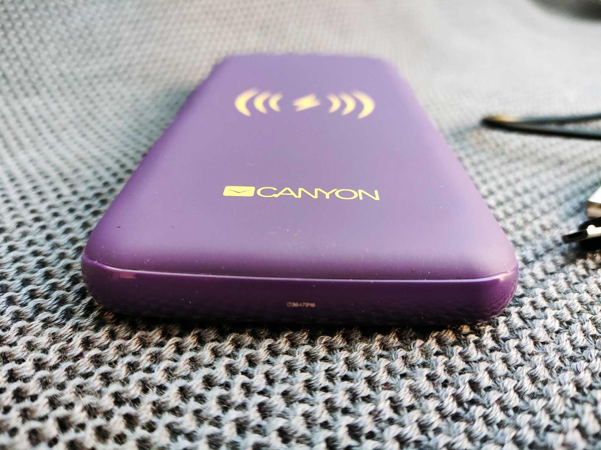 Обзор внешнего аккумулятора Canyon CNS-TPBW8