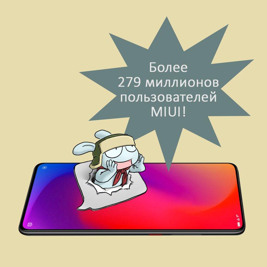 Прошивка сMIUI уже 279 миллионов пользователей смартфонов Xiaomi