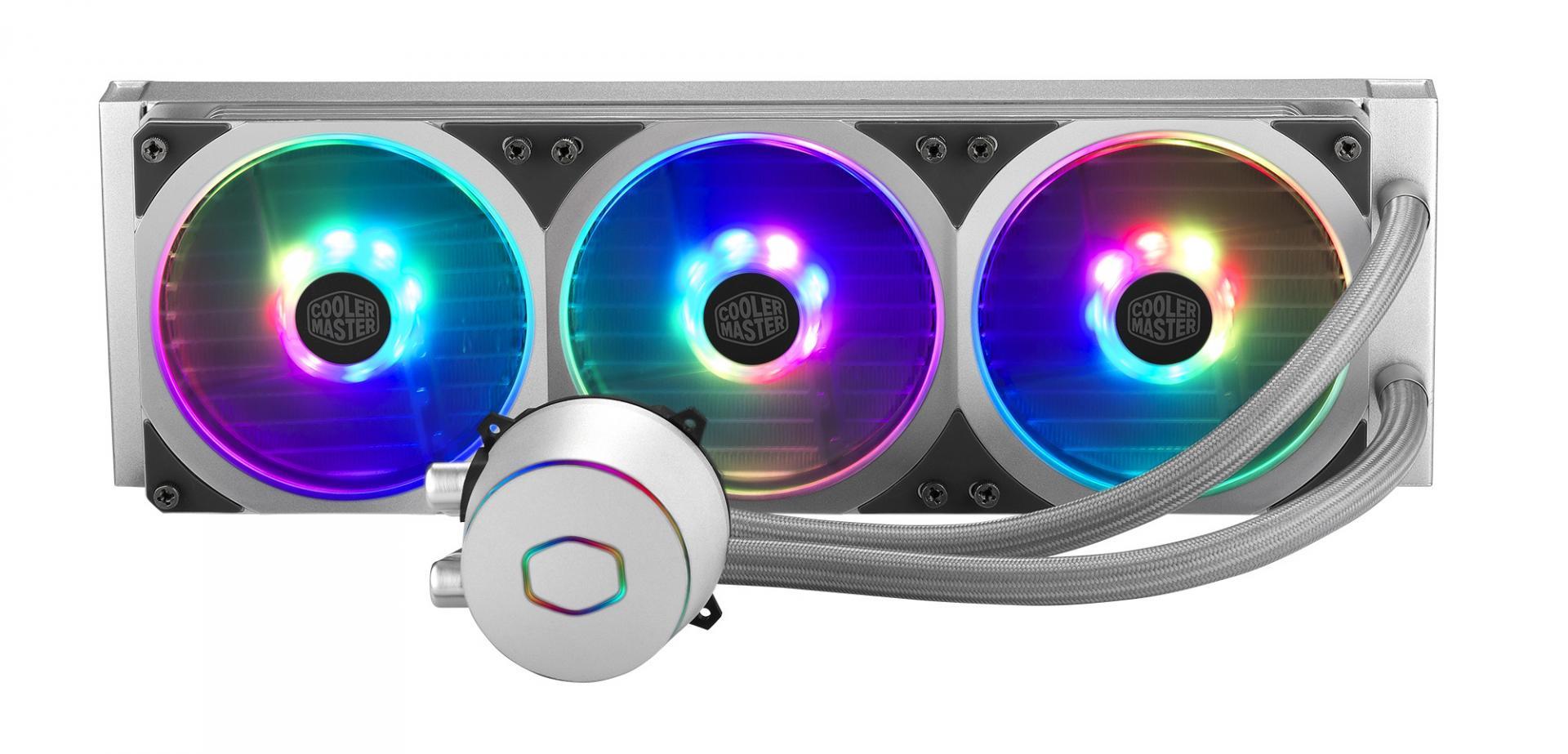 Cooler Master выпускает новую жидкостную систему охлаждения процессора MasterLiquid ML360P Silver Edition