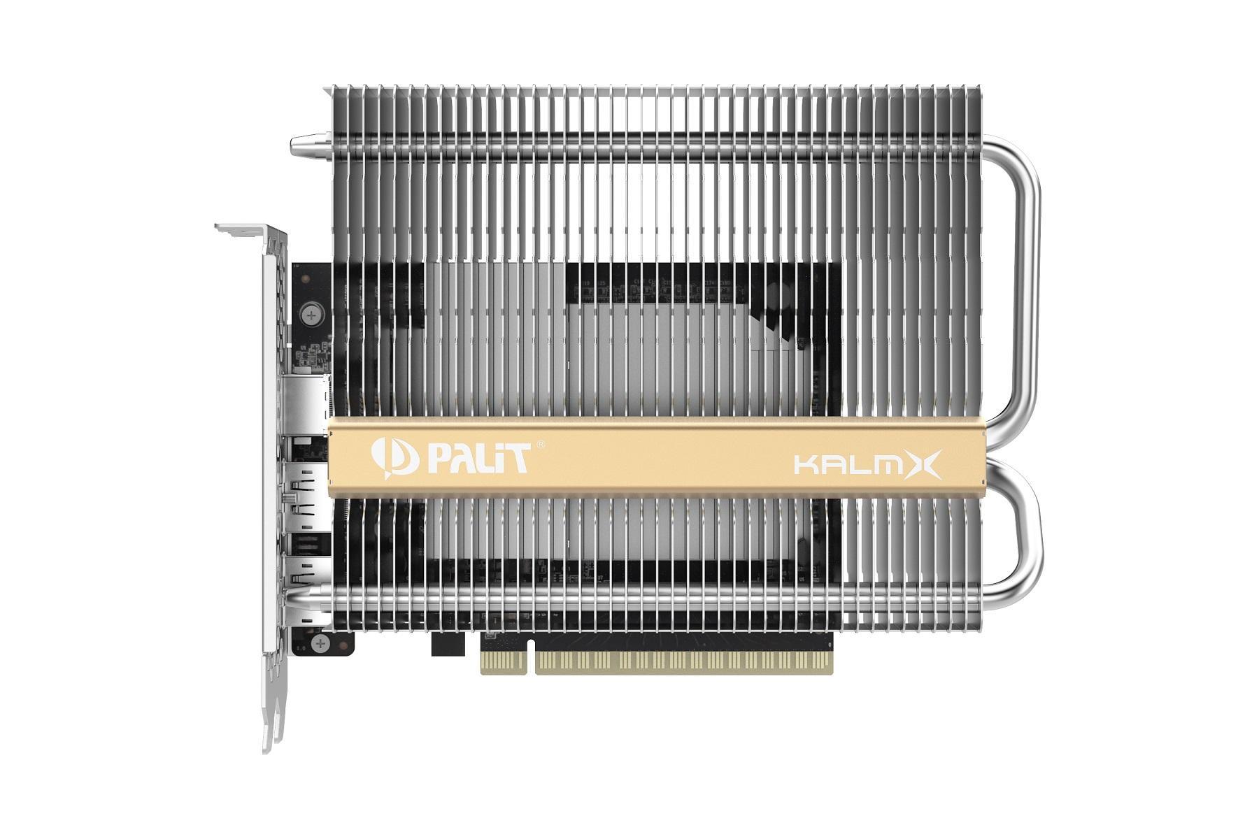 Бесшумную видеокарту Palit GeForce GTX 1650 KalmX оценили в12500 рублей