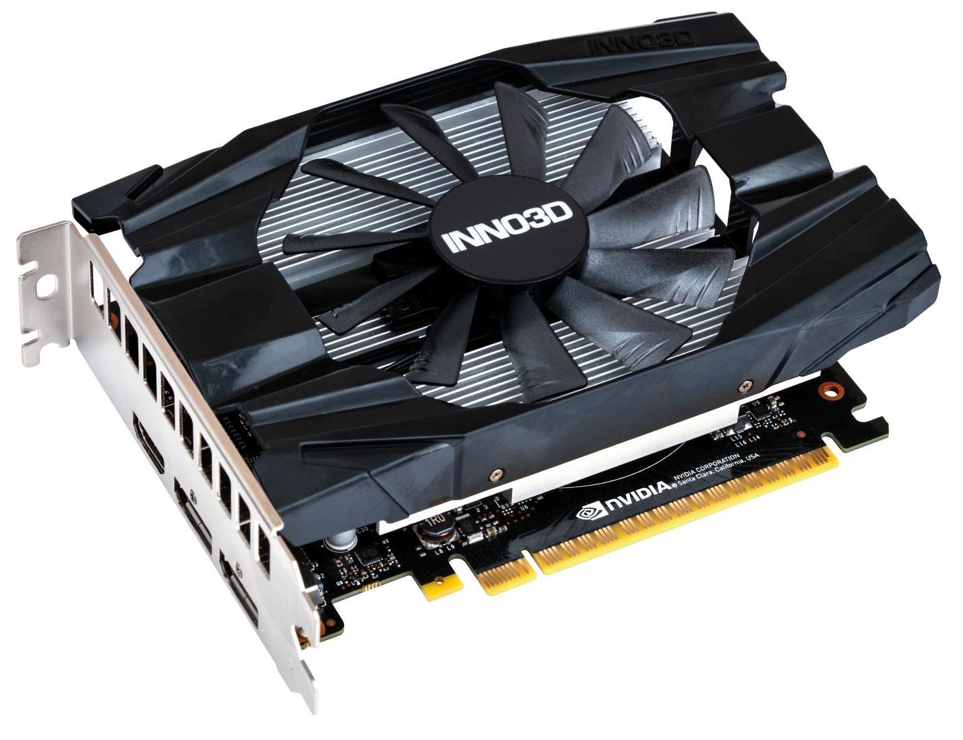 INNO3D пополнилалинейку видеокарт ещёдвумя: GeForce GTX 1650 D6 TWIN X2 OC+ COMPACT