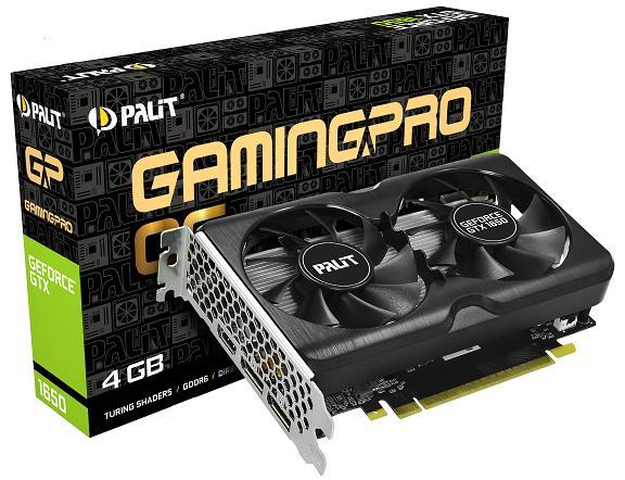 Palit выпустила GeForce GTX 1650 GamingProнабазе скоростной памяти GDDR6