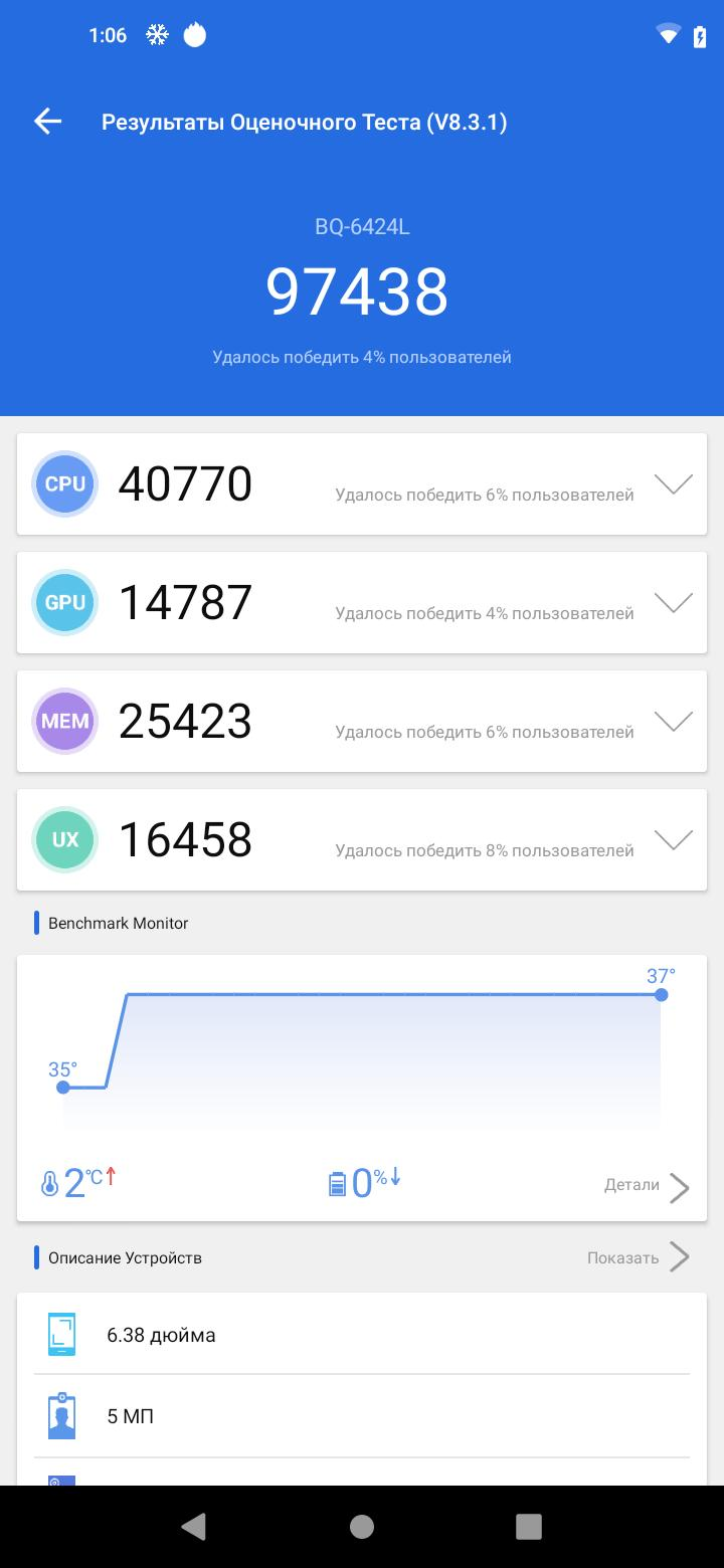 Тест-драйв смартфона BQMagic O(6426L)