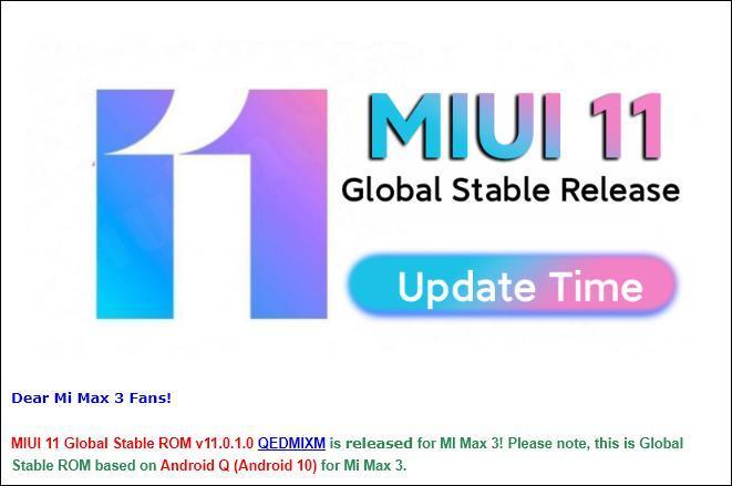 Xiaomi MiMax 3 & Mi8 Lite начали получать Android 10 иMIUI 11