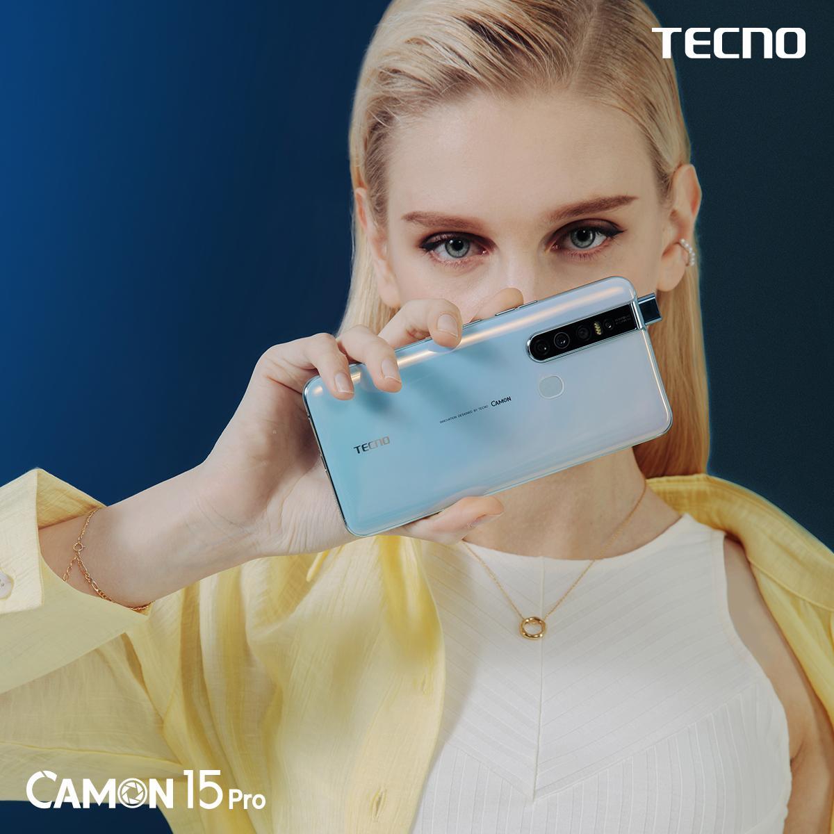 Смартфон Tecno CAMON 15 Pro пошёл впродажу
