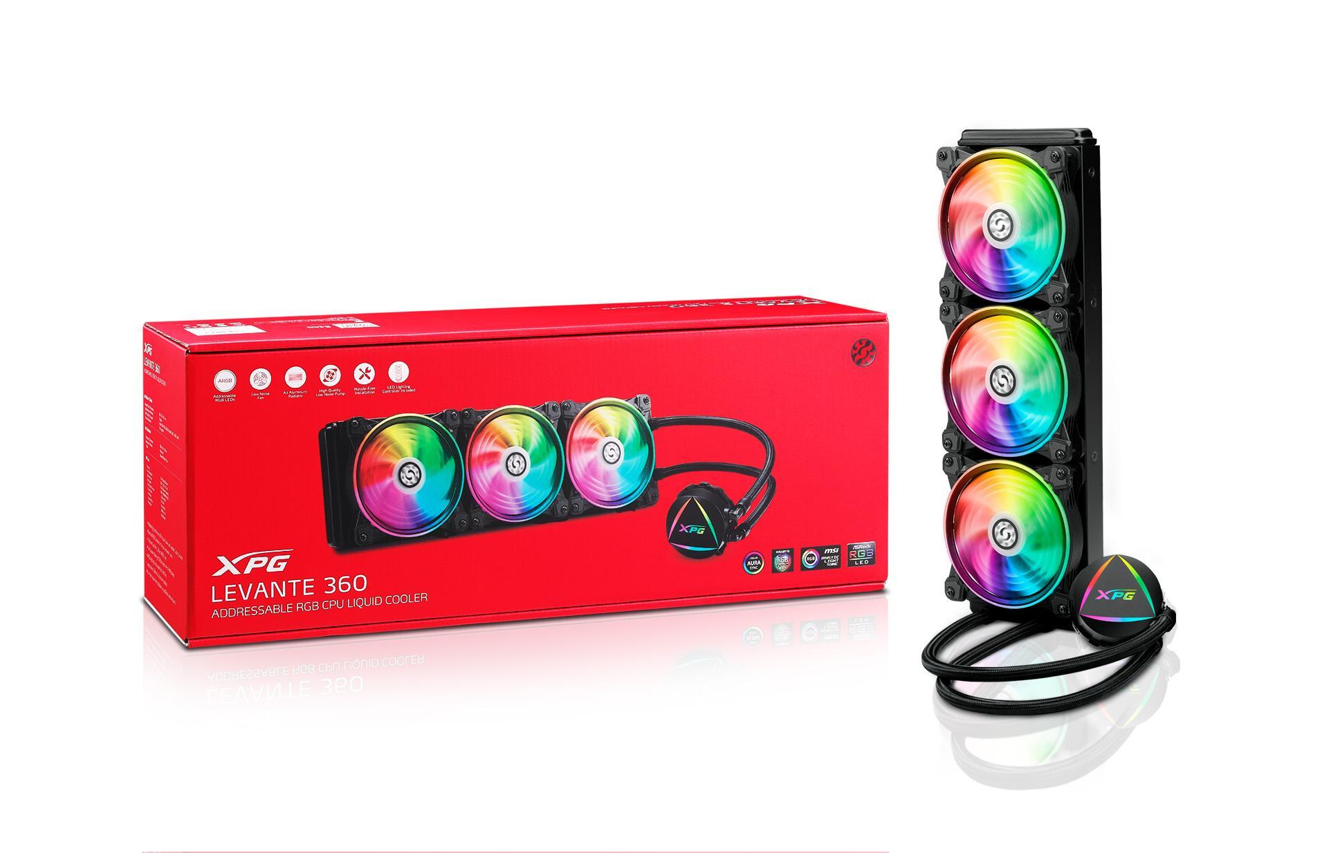 ADATA представила систему жидкостного охлаждения XPG LEVANTE 360