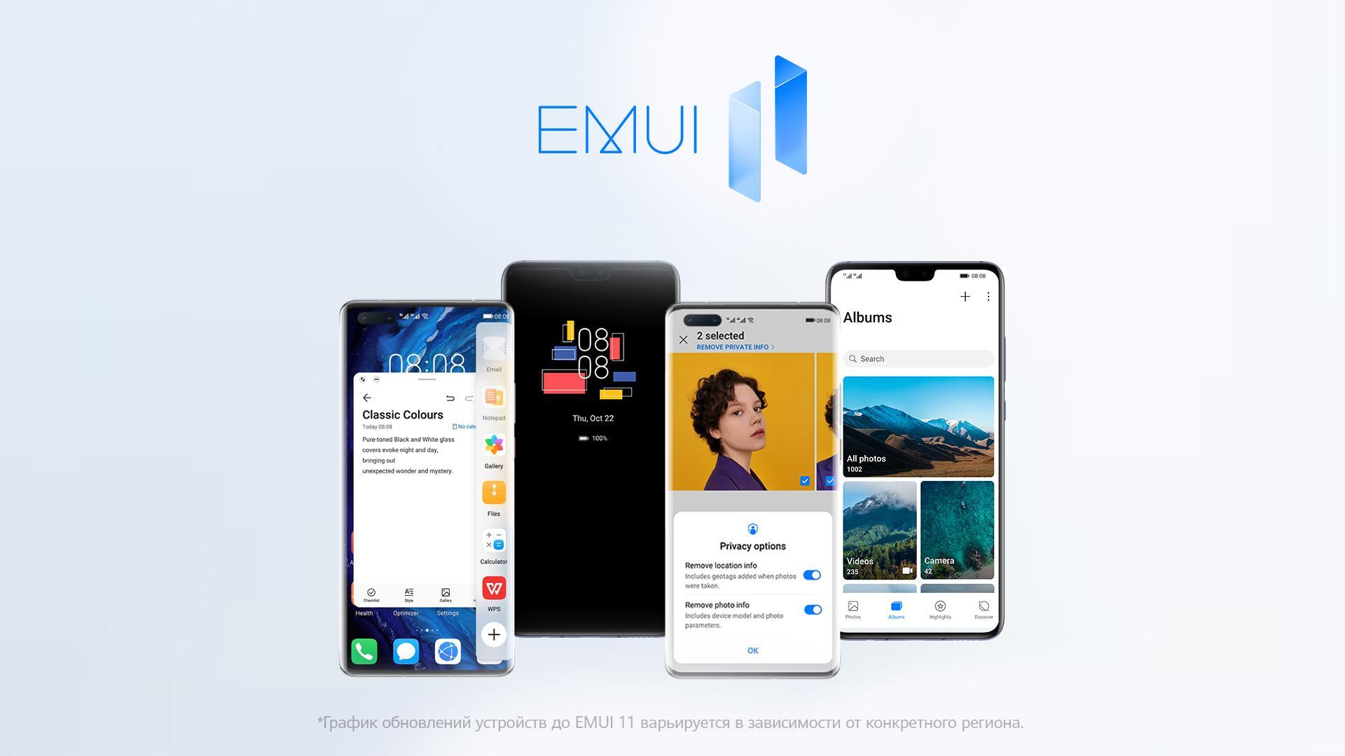 EMUI 11 приходит вРоссию. Дали официальное расписание обновлений