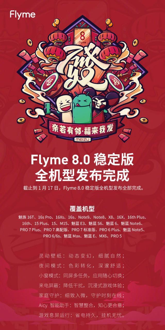 17 смартфонов Meizu получают долгожданноеобновление доFlyme 8