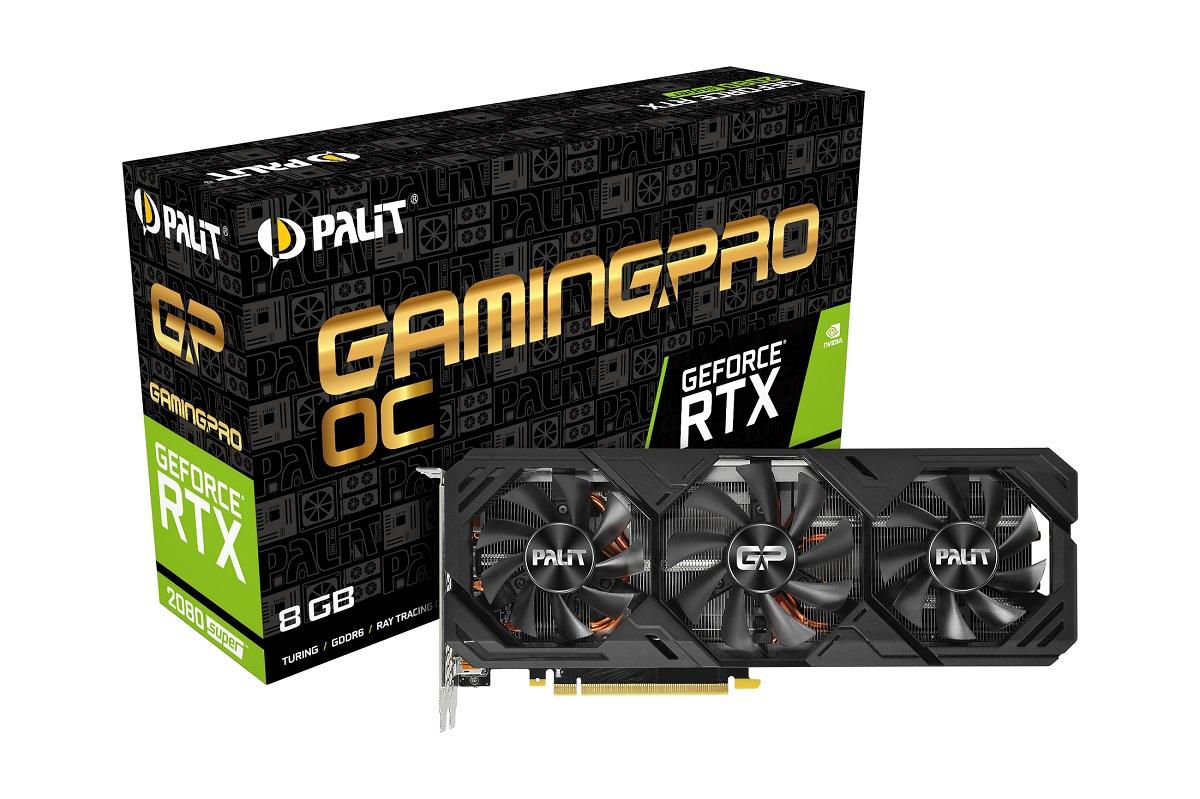 Palit предлагает 3 вентилятора нановых видеокартах GeForce RTX 2080 SUPER и2070 SUPER