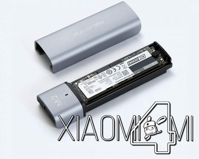 Xiaomi выпустила корпус для использования SSD M.2 вроли внешних USB-накопителей