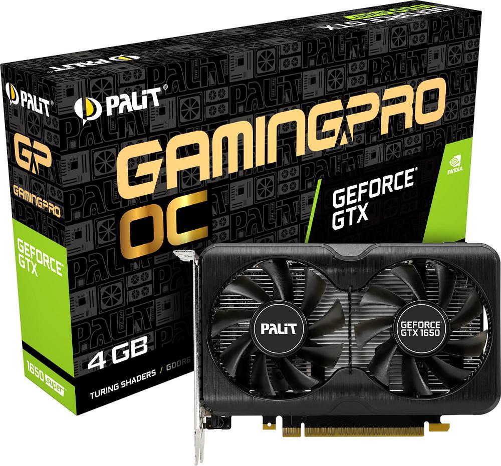 Вновых картах Palit GeForce GTX 1650 SUPER GamingPro два вентилятора наборту
