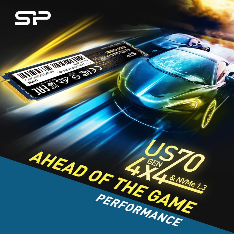 Потвоему это удар? Вот это удар  — анонсирован Silicon Power US70 PCIe Gen 4×4 SSD