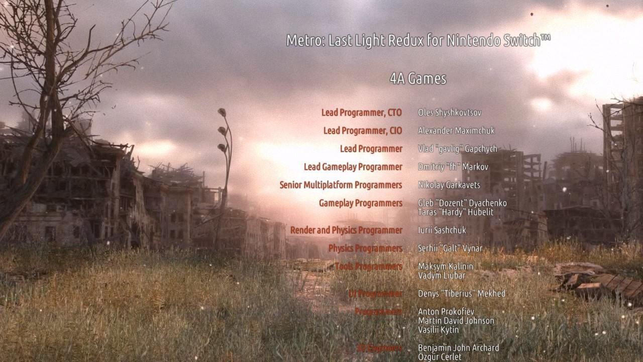 Metro 2033 иLast Light вышли наNintendo Switch. Наши впечатления отрелиза