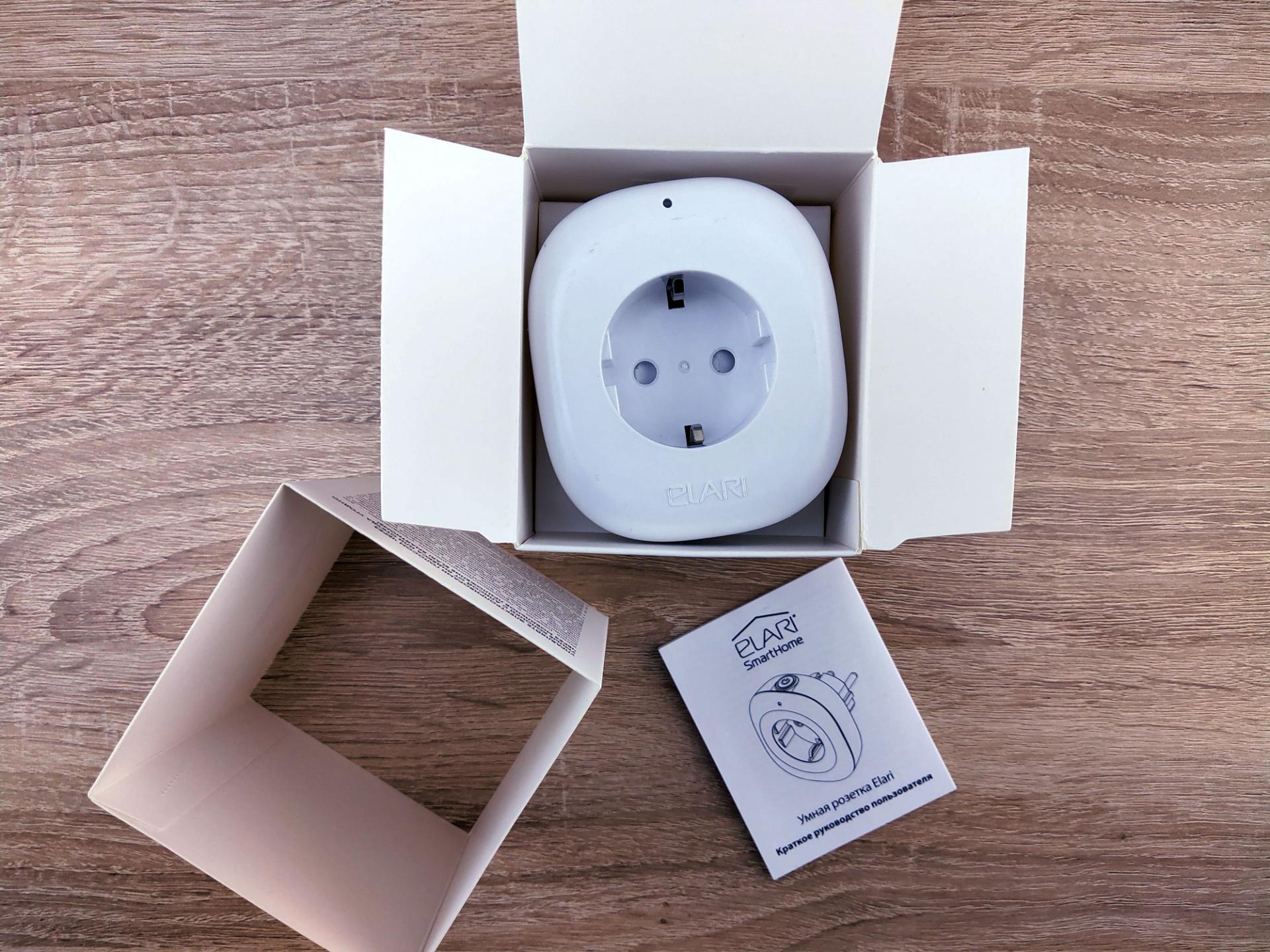 Обзор умной розетки Elari Smart Socket