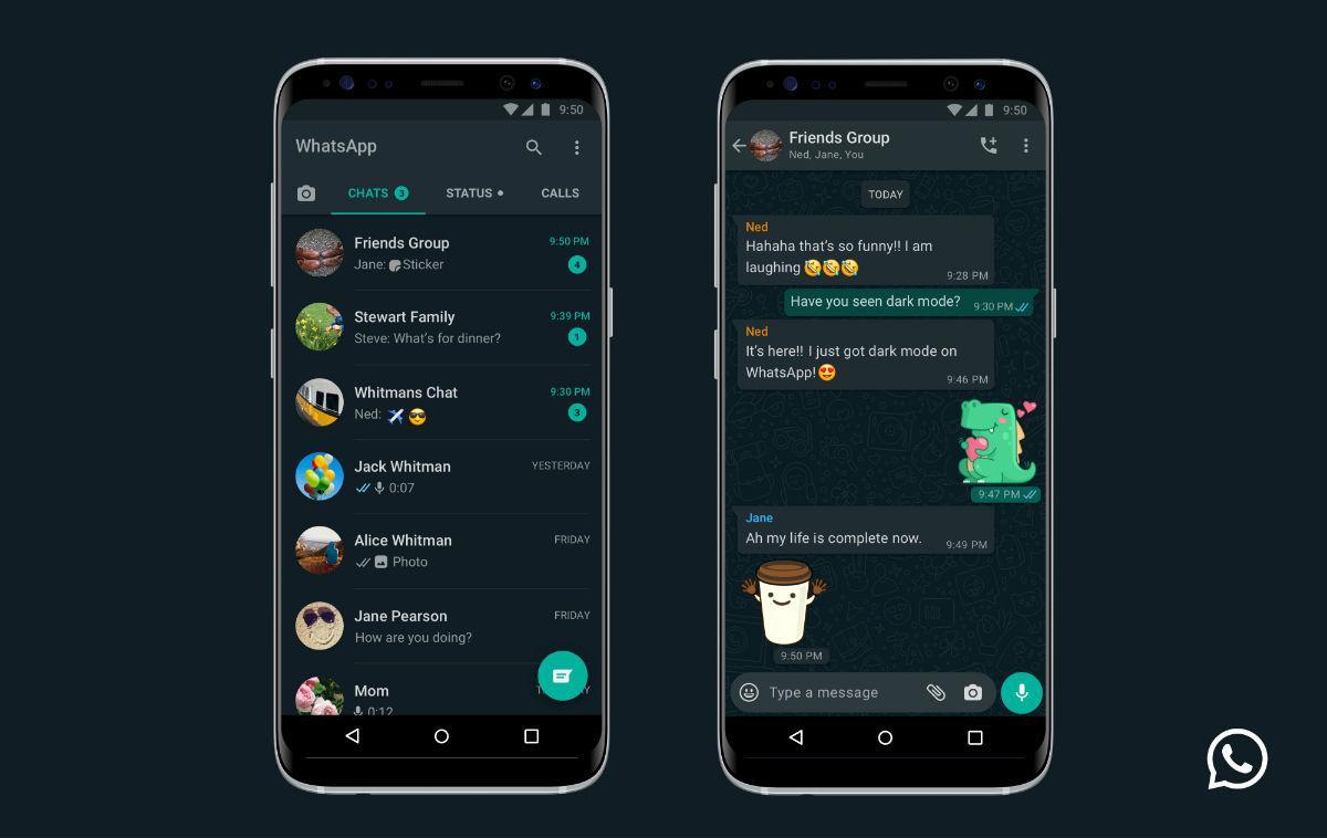 Whatsapp официально получил тёмную тему оформления