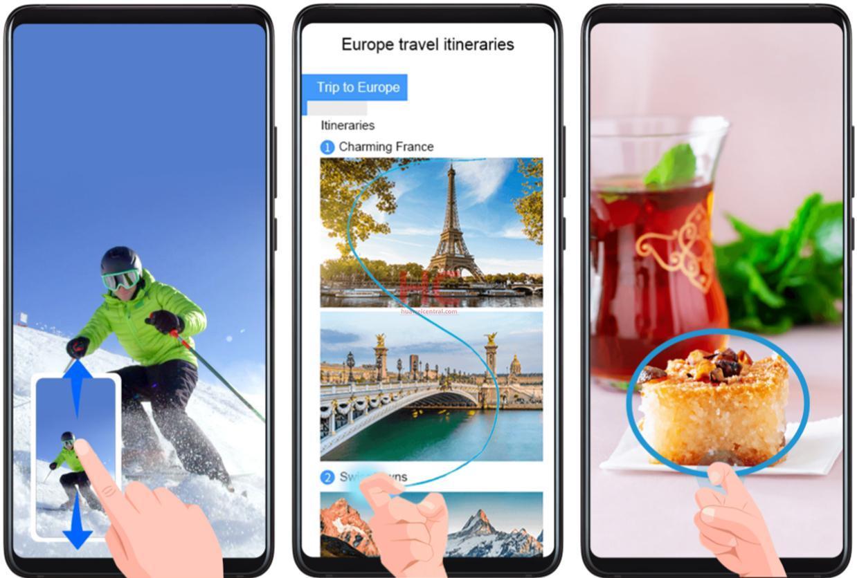 Huawei обновляет 6 смартфонов, вводя новые жесты управления