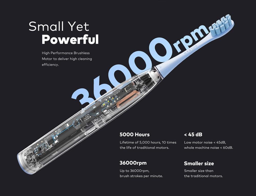 Oclean F1 — недорогая имощная зубная щетка отXiaomi за24 евро