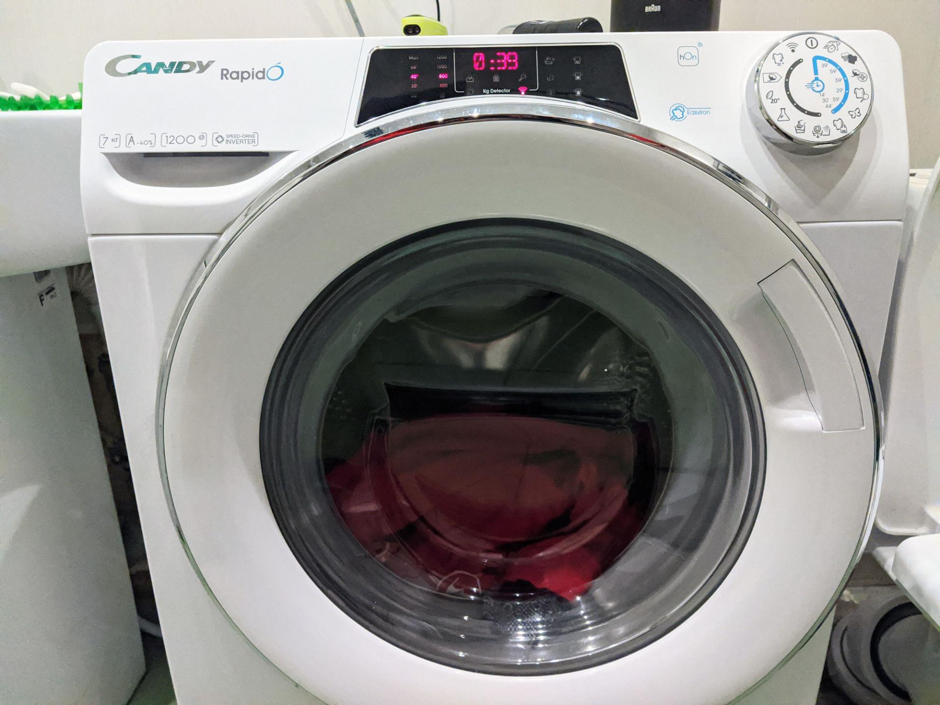 Тест-драйв стиральной машины Candy RapidO RO4 1276DWMC4-07