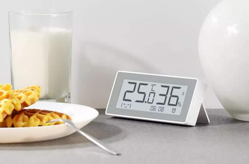 Часы стермометром иизмерением влажности отXiaomiMiaomiaoce