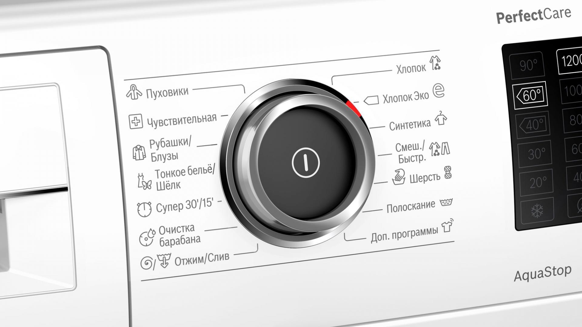 Обновлённая линейка стиральных машин Bosch PerfectCare суникальным зауженным дизайном.