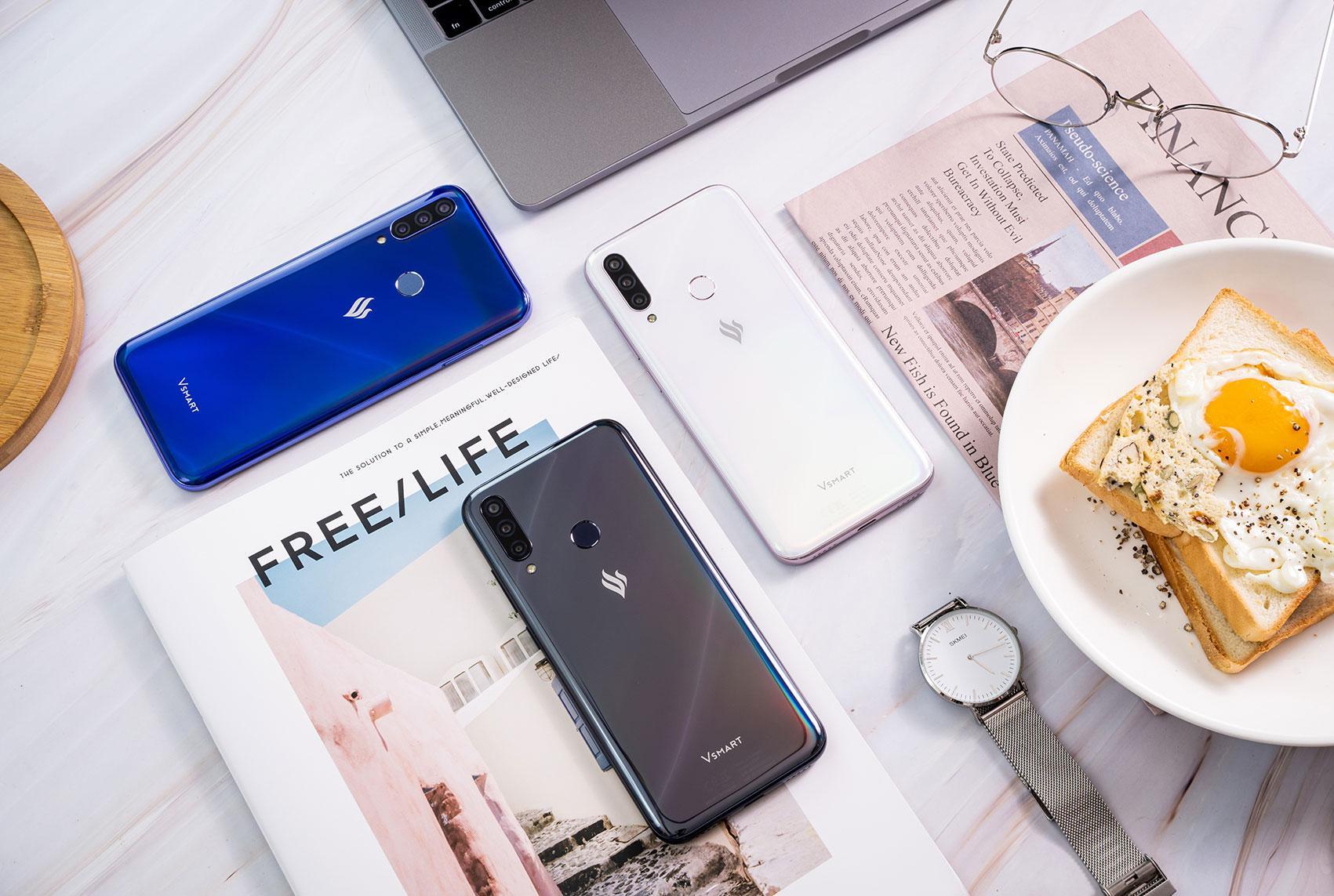Помните про Vsmart? Новый смартфон Joy 3+ стоит 9990 рублей, ионсизюминкой
