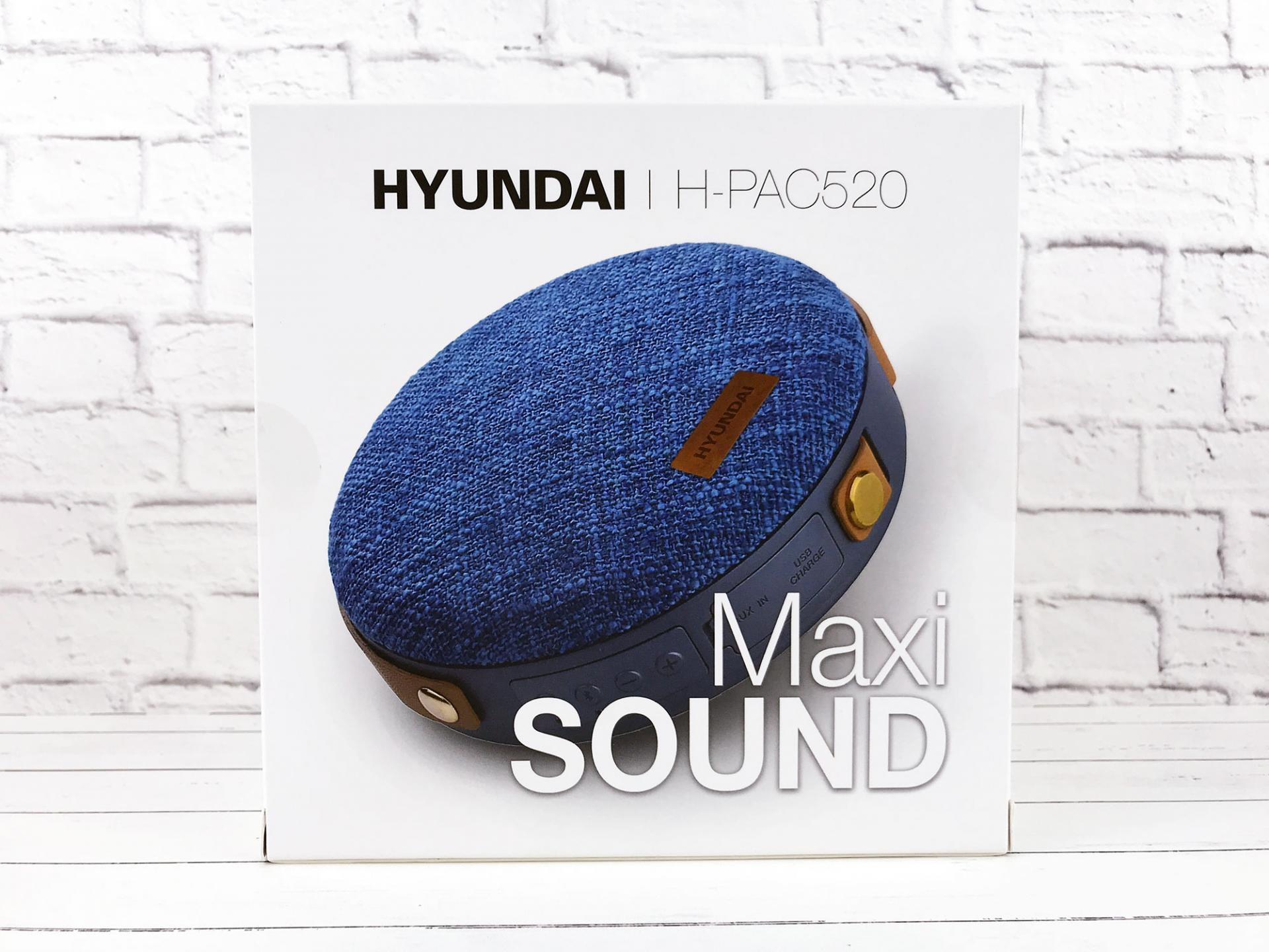 Обзор портативной колонки Hyundai Maxi SOUND H-PAC520