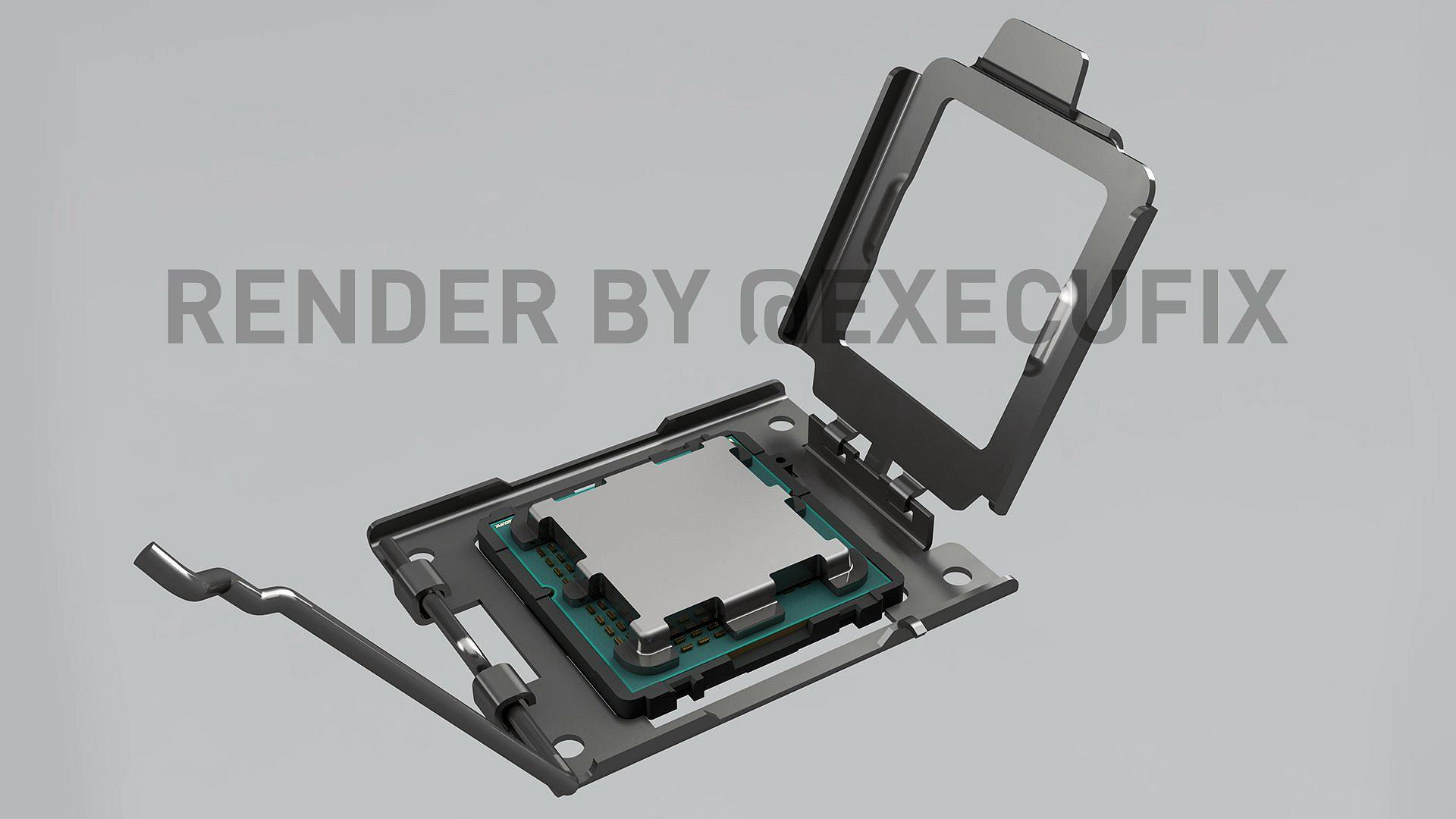 Смотрим нарендеры сокета AM5 для будущих процессоров AMD
