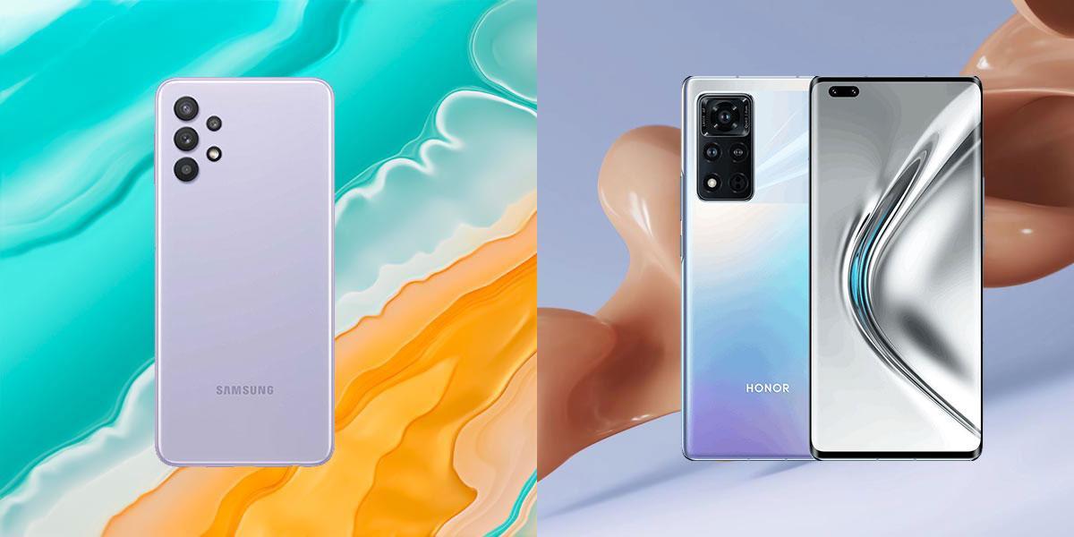 Обои изсмартфонов Samsung Galaxy A32 иHonor V40 уже можно скачать
