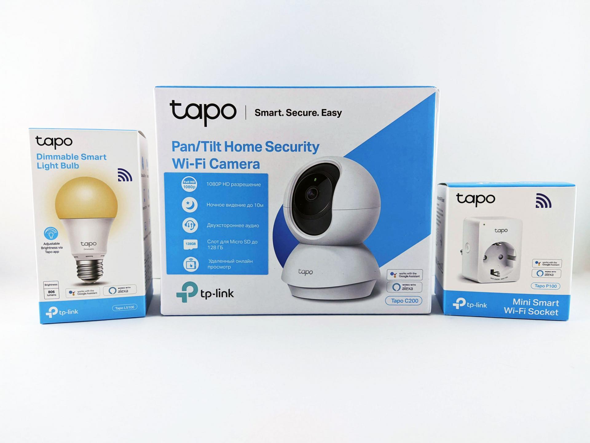 Тест-драйв набора умного дома отTP-Link Tapo: камера, лампочка, розетка