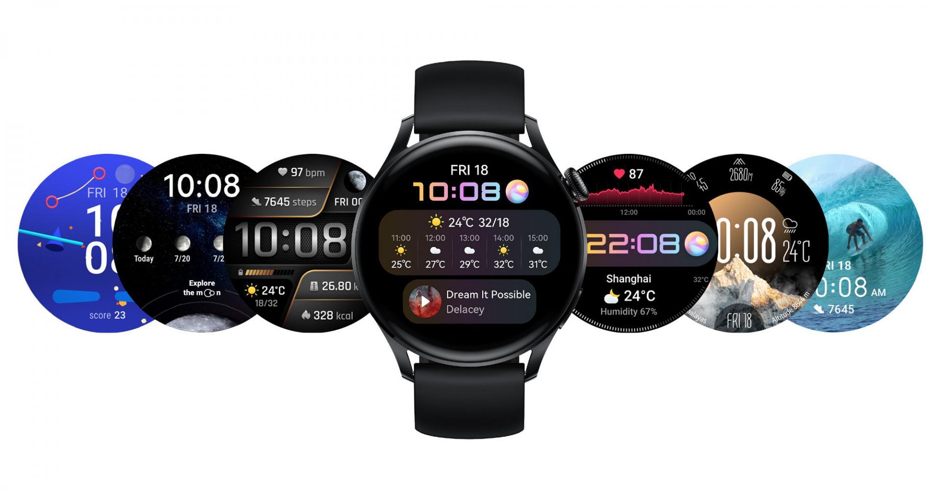 Huawei представляет HUAWEI WATCH 3 Series: умные часы на базе HarmonyOS 2