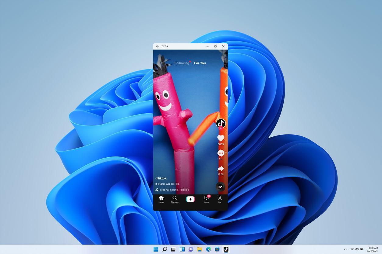 Windows 11 даст запускать Android-приложения наПК