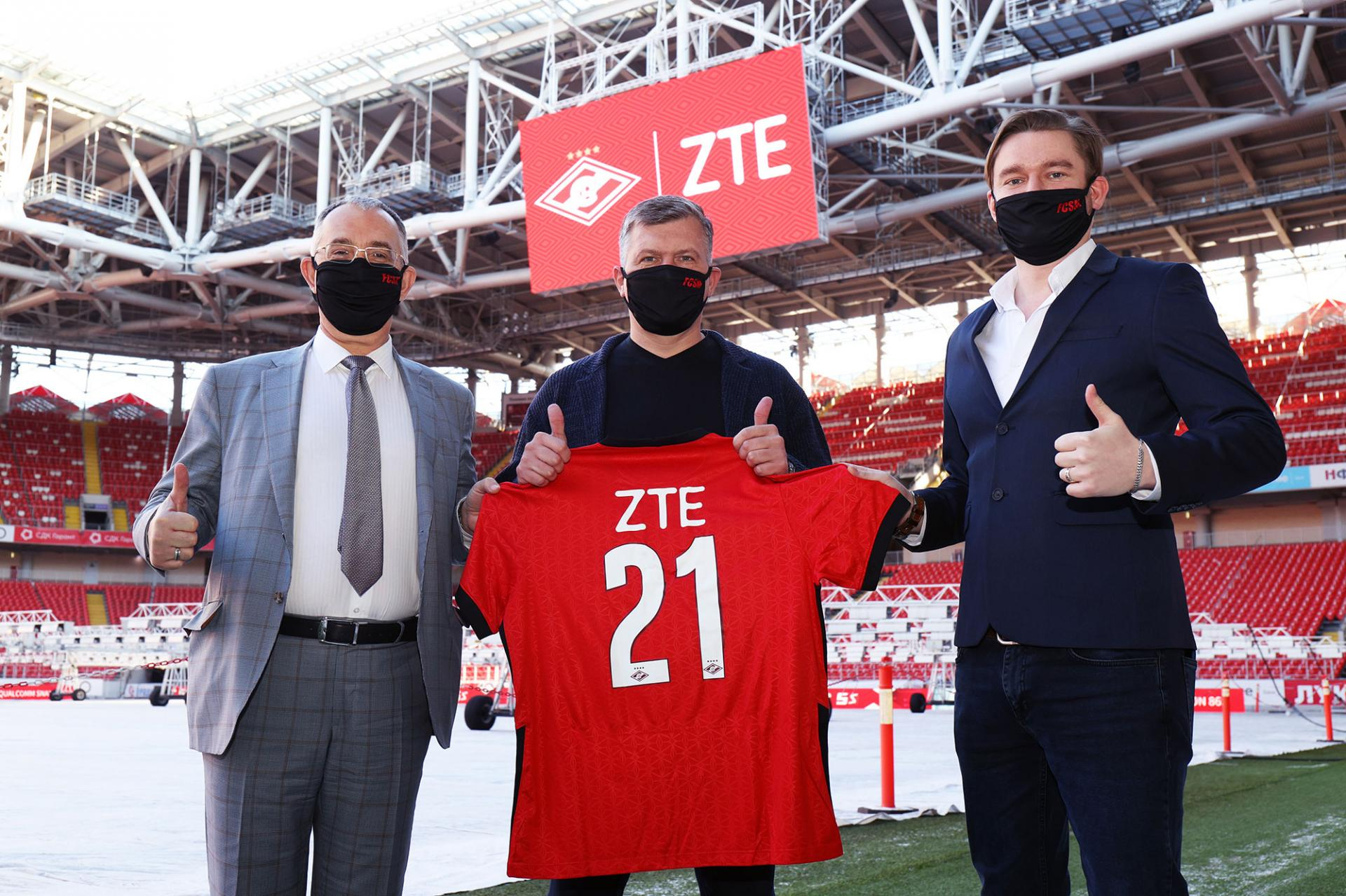 ZTE иФКСпартак-Москва вместе минимум до2022 года