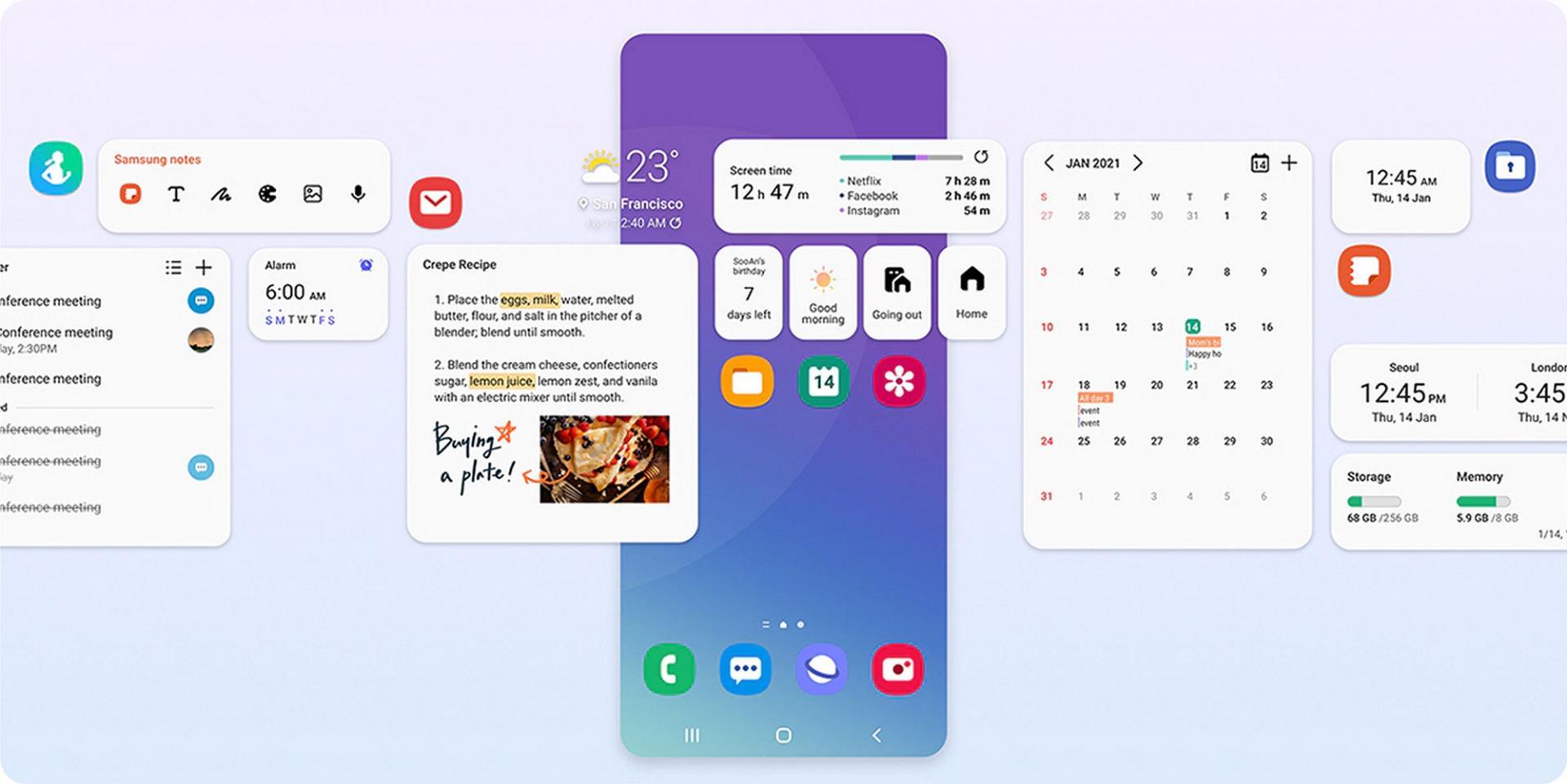56 смартфонов Samsung могут получить One UI4.0 иAndroid 12