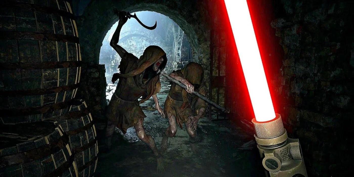 ВResident Evil Village можно получить световой меч изЗвёздных войн