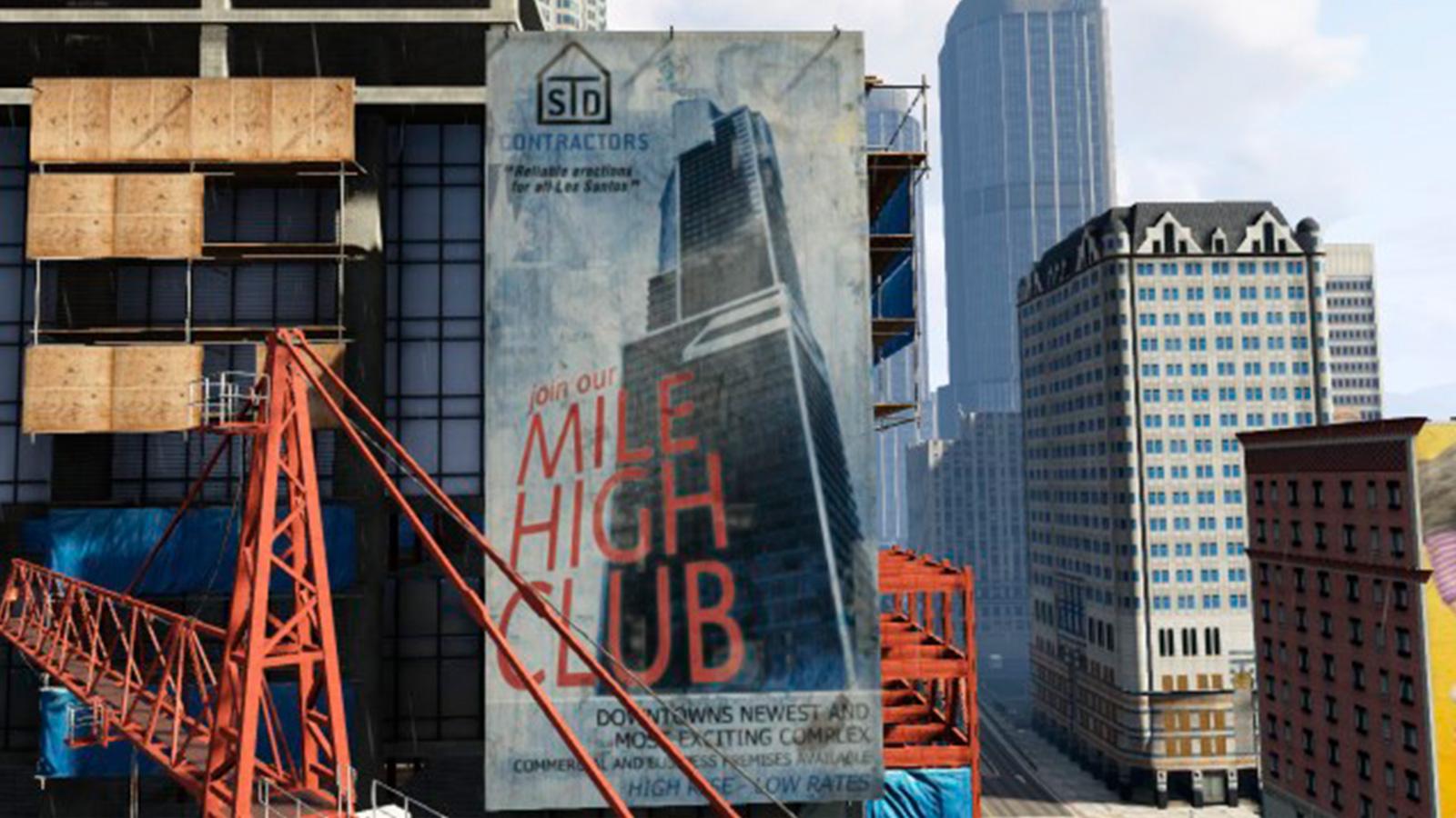 Игроки сделали из бесконечной стройки здания в GTA 5 символ ожидания GTA 6
