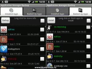 ASTRO Backup Manager