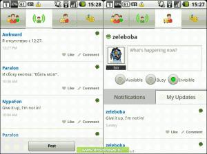ICQ Mobile - работа со статусами