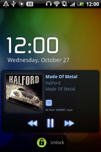 PowerAmp LockScreen