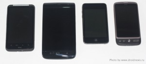 "HTC Desire HD, Dell Streak 5"", Apple iPod touch 3G, HTC Desire"