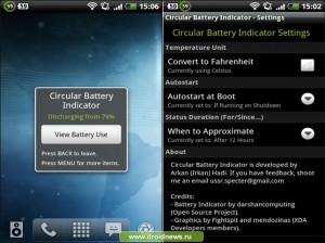 Circular Battery Indicator