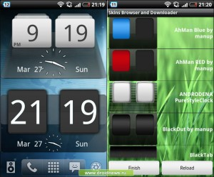 Sense Analog Clock Widget Dark & MIUI Digital Weather Clock
