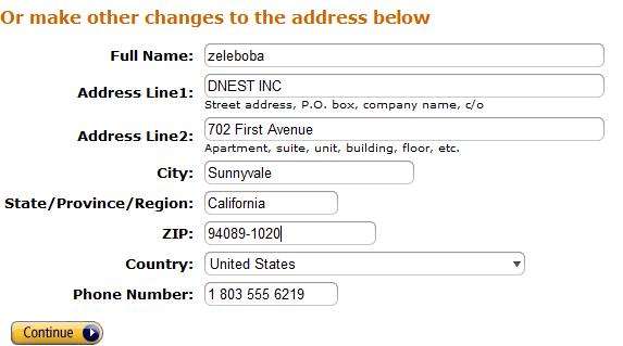 Адрес для Amazon Appstore