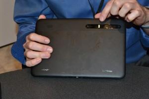 Motorola Xoom - камера + кнопка включения