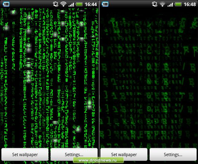 3d matrix live wallpaper pack подборка матричных